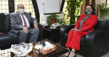 ياسمين فؤاد وزيرة البيئة ومحمد أحمد مرسي وزير الإنتاج الحربى