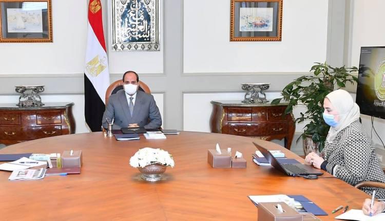 رئيس الجمهورية يجتمع مع رئيس الوزراء ووزيرة التضامن
