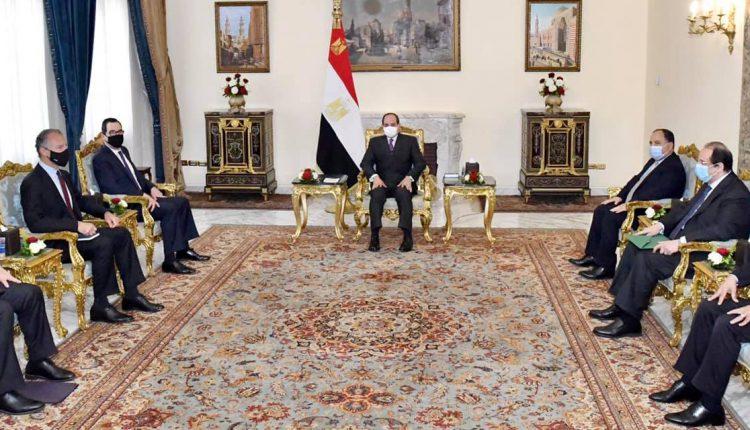 الرئيس السيسي يحتمع مع وزير الخزانة الأمريكي