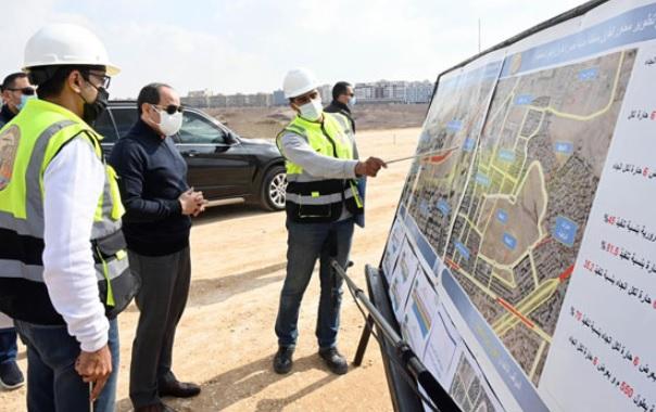 الرئيس السيسى يتفقد تطوير بعض المشروعات