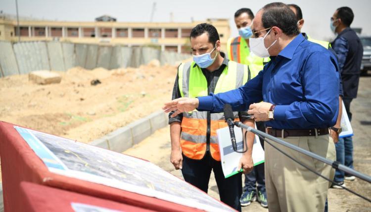 الرئيس السيسي يتفقد محاور شرق القاهرة