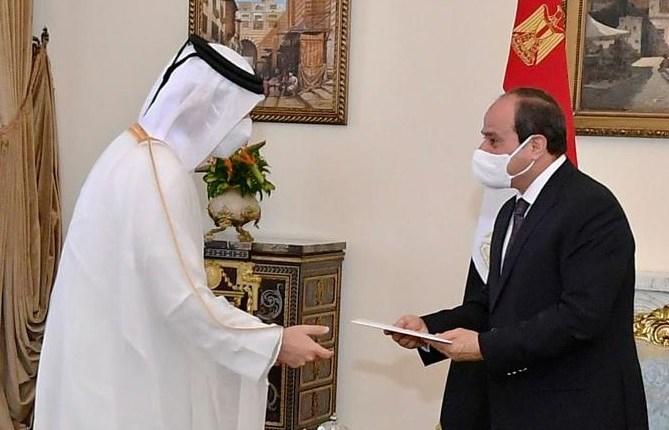 الرئيس السيسي يلتقي وزير خارجية دولة قطر