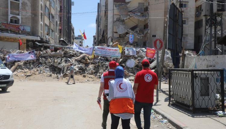 الهلال الأحمر المصري يزور قطاع غزة
