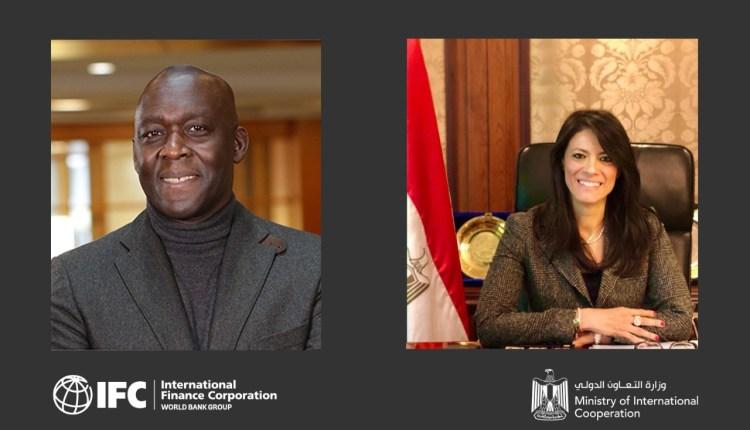 رانيا المشاط مع رئيس مؤسسة التمويل الدولية