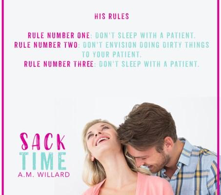 Sack Time- Coming Soon! 8 Weeks!