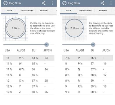 تطبيق لمعرفة مقاس الخاتم عالم التسوق الإلكتروني