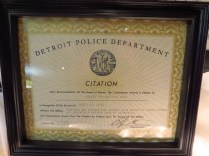Citation from Detroit PD.