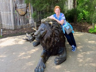 Me with the bronze lion.