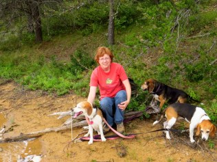 Me and the beagles.