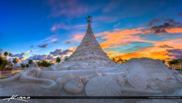 Christmas Sand Tree West Palm Beach Florida photo
