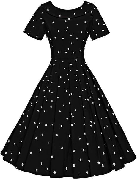 Black Polka Pin up dress