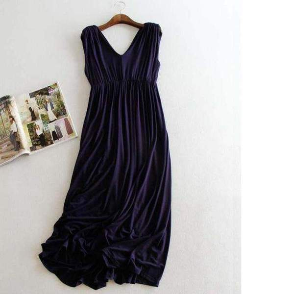 Ashley Soft Dress for Pregnant Women - Black