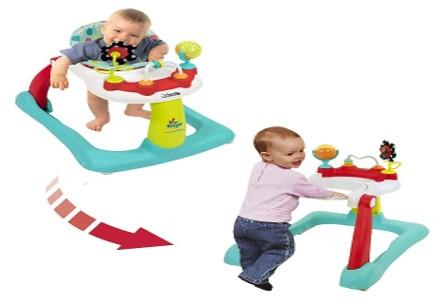 Kolcraft Tiny Steps 2-in-1 Activity Toddler & Baby Walker