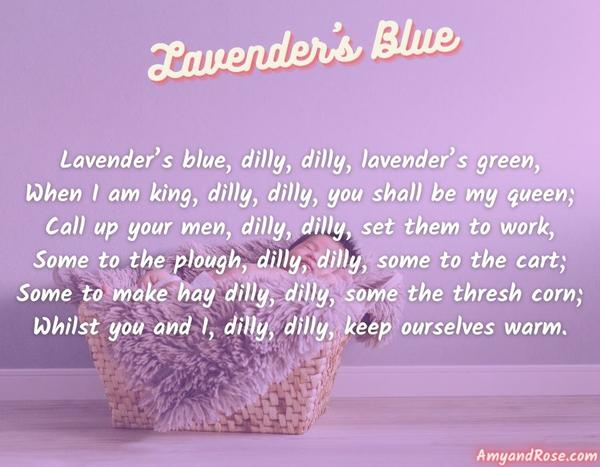 Lavender's Blue Lullaby Lyrics