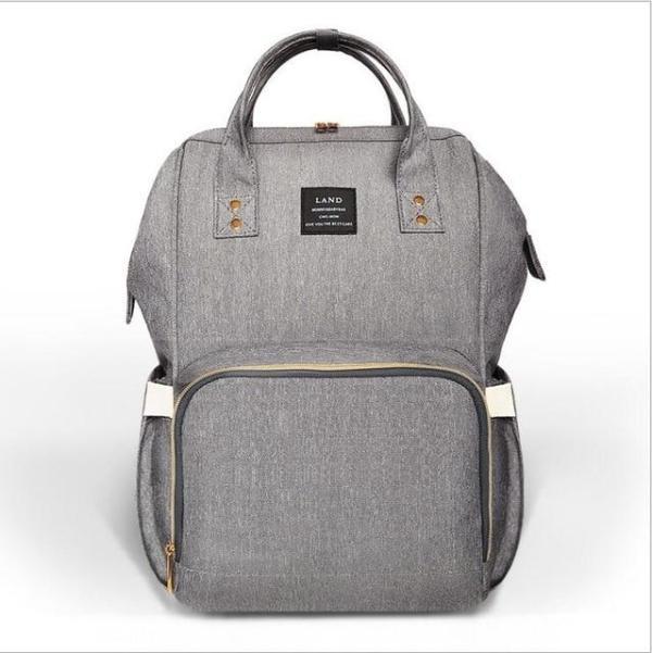 Land Diaper Backpack Bag - Light Gray - AmyandRose