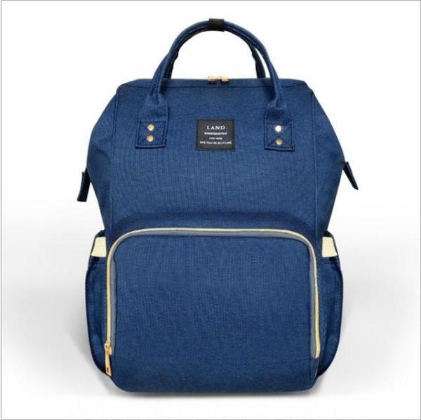 Land Diaper Backpack Bag - Dark Blue - AmyandRose