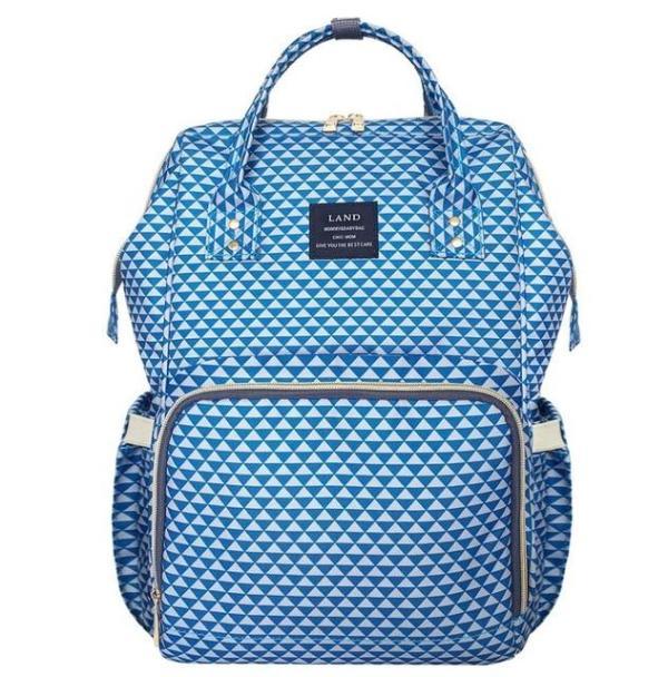 Land Diaper Backpack Bag - Light Blue - AmyandRose