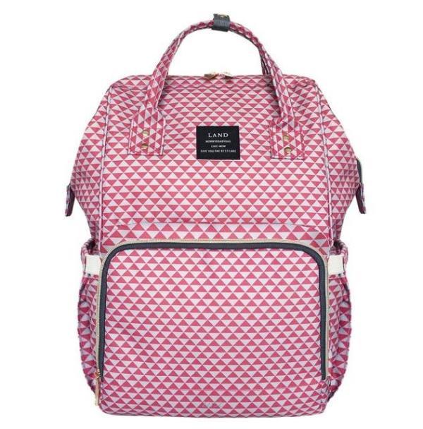 Land Diaper Backpack Bag - Pink - AmyandRose