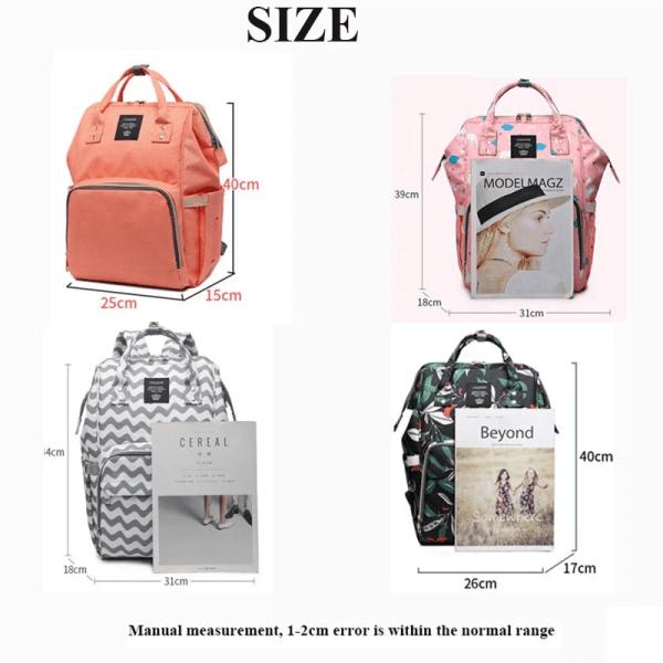Lequeen Diaper Bag Backpack Size