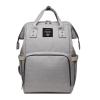 Lequeen Diaper Bag Backpack Light Gray