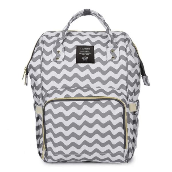 Lequeen Diaper Bag Backpack Stripe