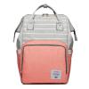 Lequeen Diaper Bag Backpack Grey Peach