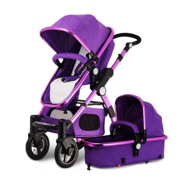 Luxurious Baby Stroller 3 in 1 Purple