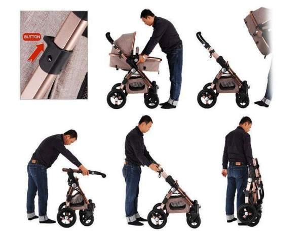 Baby Stroller 3 in 1 Convertible
