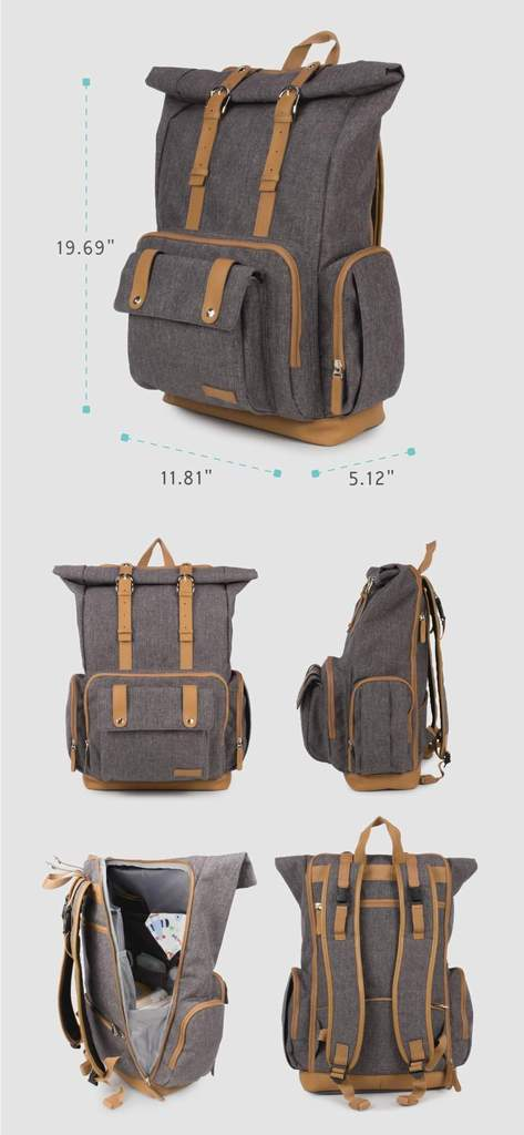 Diaper Bag for Dads Dimensions