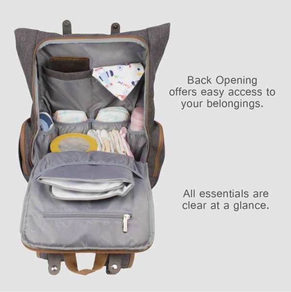 Diaper Backpack Bag for Dads Inner Pockets