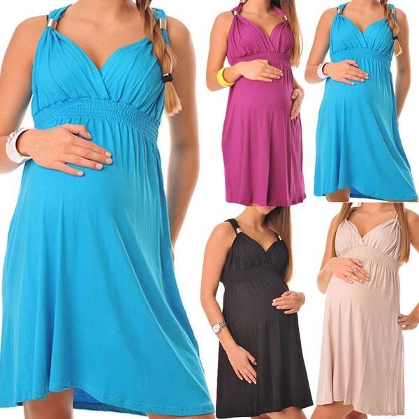 Halter Pregnancy Gowns