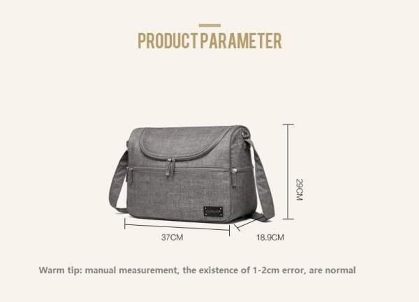 Messenger Diaper Bag Dimensions