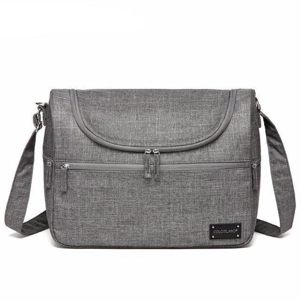 Messenger Diaper Bag Gray