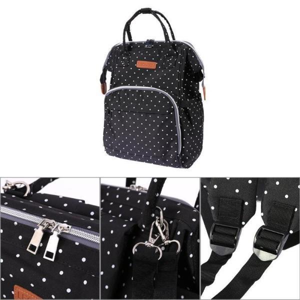 Polka Dot Waterproof Diaper Backpack Bag Accessories