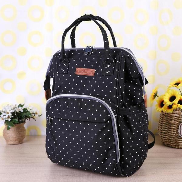 Polka Dot Waterproof Diaper Bag