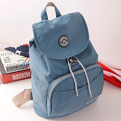 Preppy Style Women's Waterproof Backpack Gray