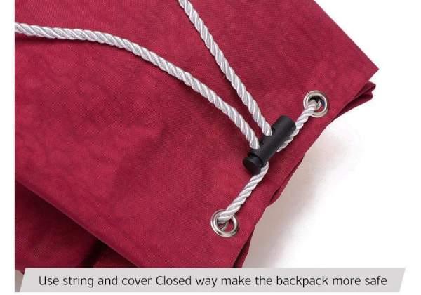 Preppy Style Women's Waterproof Backpack Drawstring