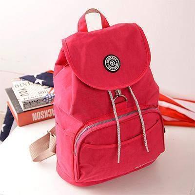 Preppy Style Women's Waterproof Backpack Watermelon Red