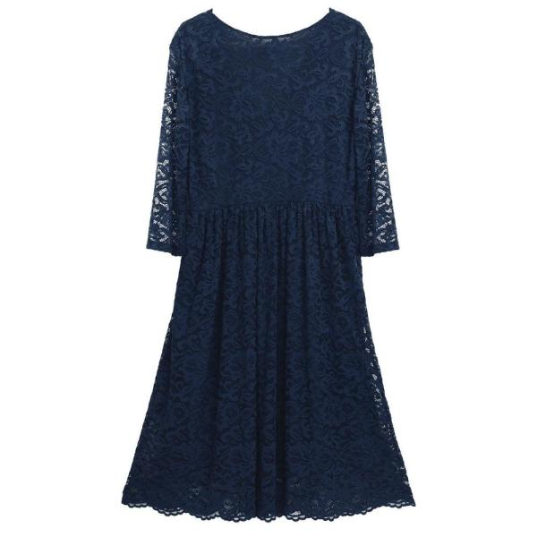 Floral Cocktail Party Maternity Dress Navy Blue