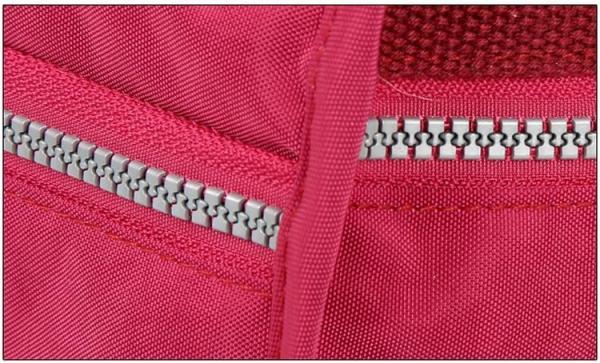 Lita Multi Compartment Handbag Purse Zipper Closeup