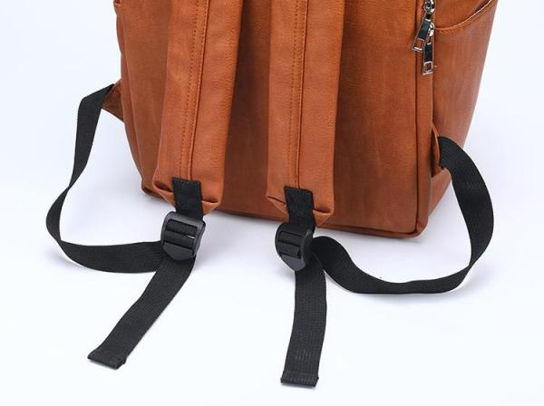 Leather Diaper Backpack Strap
