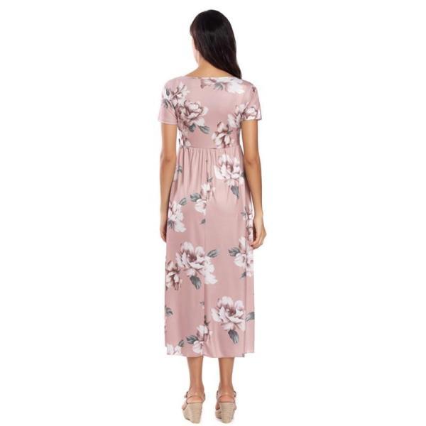 Floral Maternity Dress Back