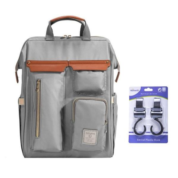 Sunveno Diaper Backpack Bag Gray