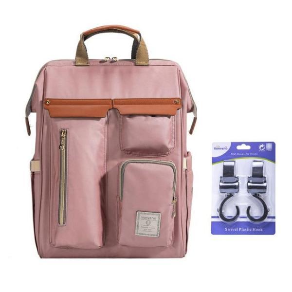 Sunveno Diaper Backpack Bag Pink