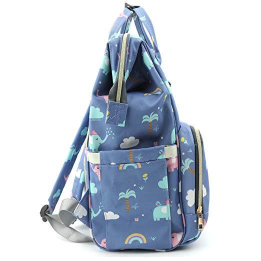 Elephant Diaper Backpack Side
