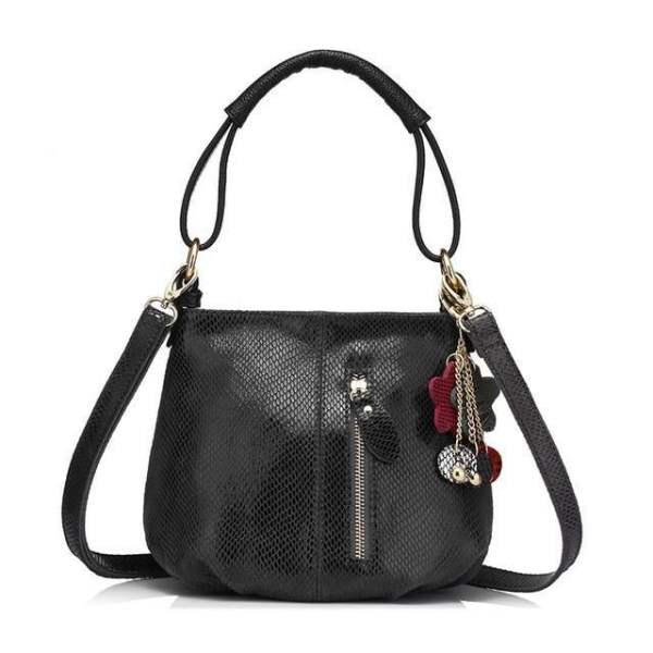 Sissy Leather Handbag Dark Gray