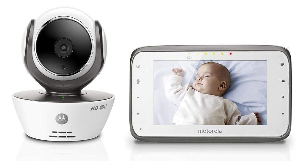Motorola MBP854CONNECT Dual Mode Baby Monitor 4.3-Inch LCD Parent Monitor Wi-Fi Internet Viewing