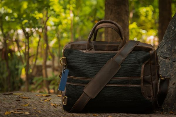 Leather Convertible Backpack Back Design
