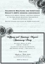 Mozart Gala Invitation - Inside