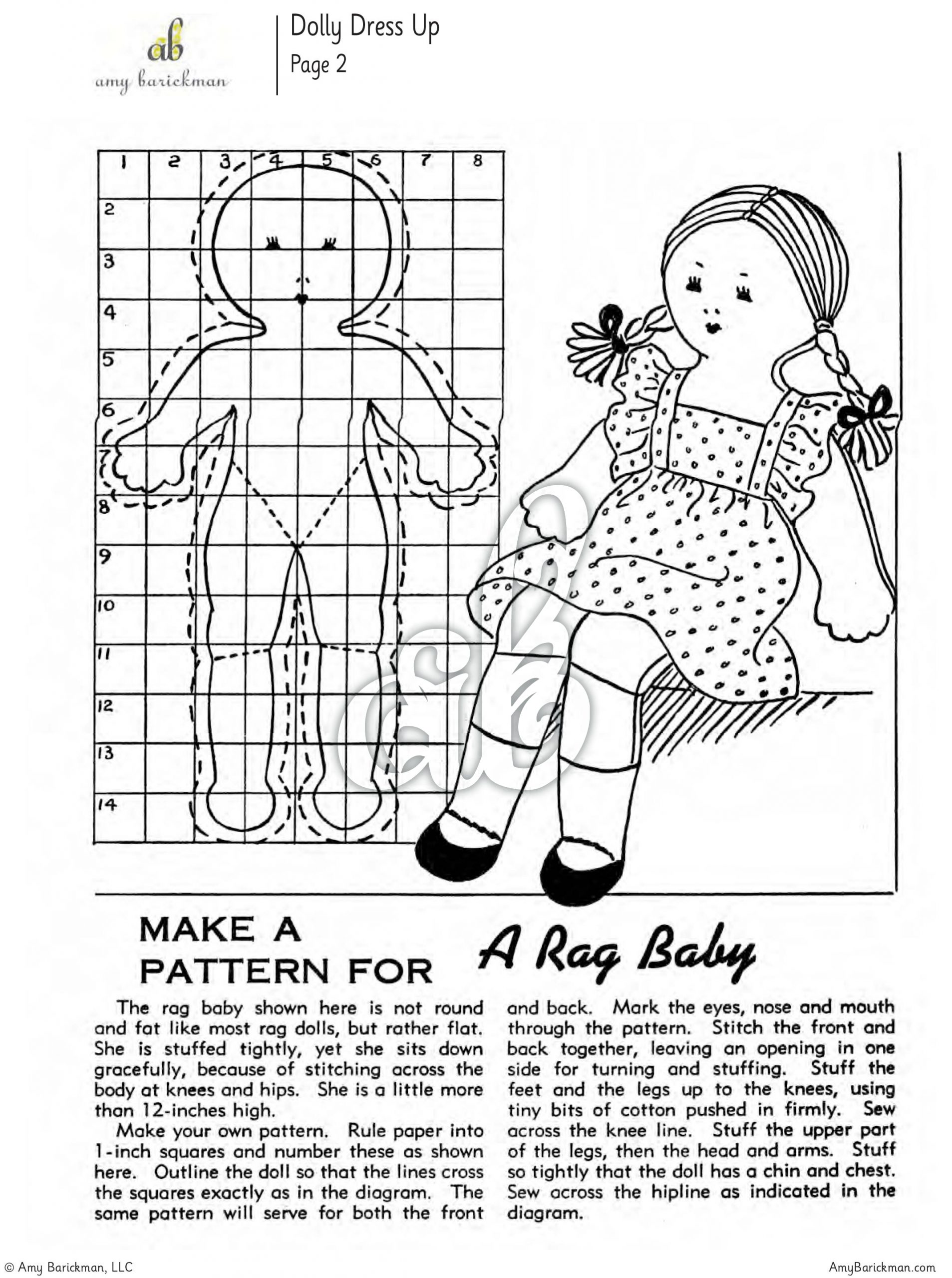 Dolls: 7 Projects for Rag Dolls and Clothes eBook • Amy